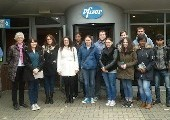 GMP and Biopharmaceutical Manufacturing Operations students visit Pfizer