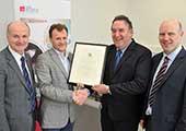 Brendan O'Regan receives the STEM Graduate Achievement Award
