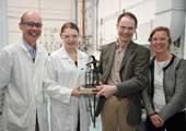 Student Janina Zambryzcka wins the Denise O'Dea perpetual trophy
