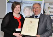 Louise Roe, Ireland's first female Engineers Ireland Chartered Engineer of the Year, receives CIT STEM award