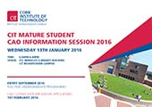 Mature Student CAO Information Session > 13th January