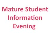 CIT Mature Student Information Evening > 16th November