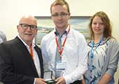 Aaron Moore is awarded the Niall Condon Pfizer Chemical Process Safety Medal.
