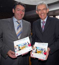 Billy Kelleher T.D. Minister for Trade & Commerce with Dr Brendan Murphy, President, CIT at the Launch of the new Continuing Education Handbook 2010-2011.