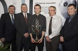 Laurence Barry, Mechanical Eng, CIT; 1st prize and Entrepreneur of