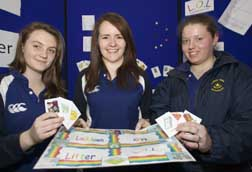 Team members from Coláiste Muire, Crosshaven; with their project