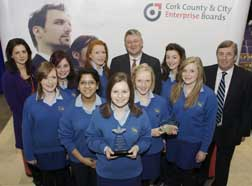Team members from Christ King GS; Best Business Presentation and