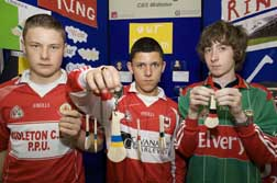 Leslie Coughlan, Josh Tawadros and James Griffin, Midleton CBS;
